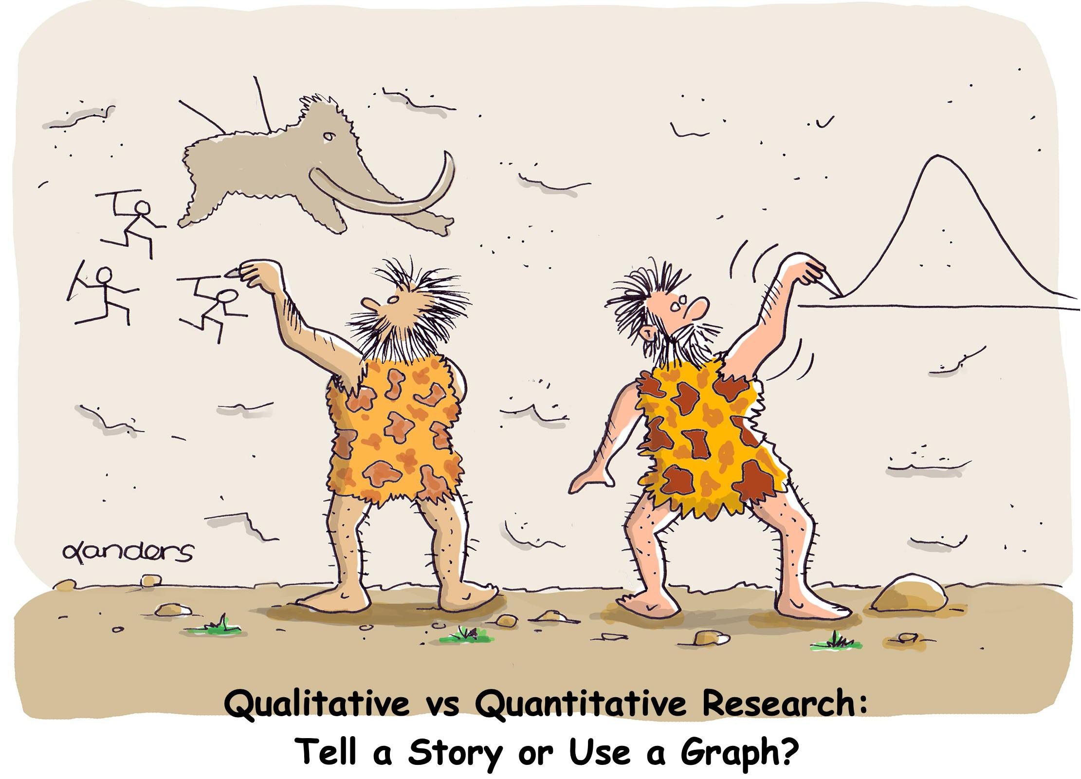 Cartoon about qualitative vs quantitative research
