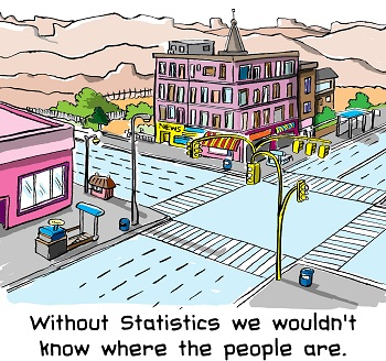 cartoon to illustrate the need for a national census
