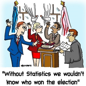 cartoon to illustrate the value of statistics in sample surveys