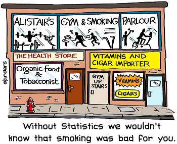 cartoon to illustrate the value of statistics in epidemiology